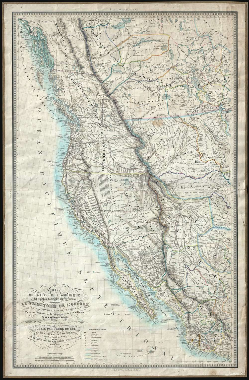 1844 Mofras Espionage  Map of the American West: California, Oregon, etc.