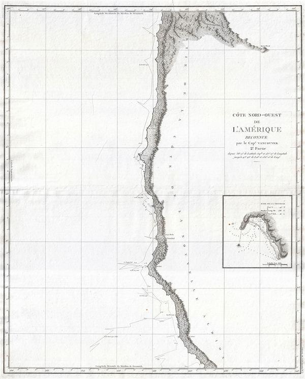 Cote Nord-Ouest de L'Amerique Reconnue par le Cape. Vancouver. 2e Partie.
