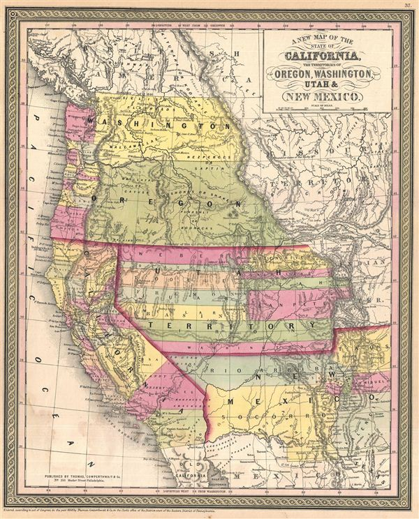Reynolds Political Map Of The United States The Era Of JF - Blank blank map of the us 1854