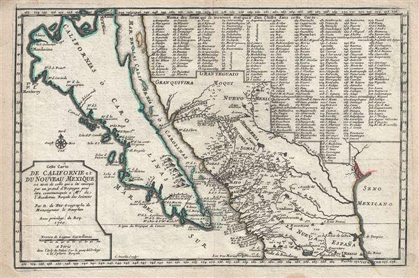 Cette Carte de Californie et du Nouveau . - Main View
