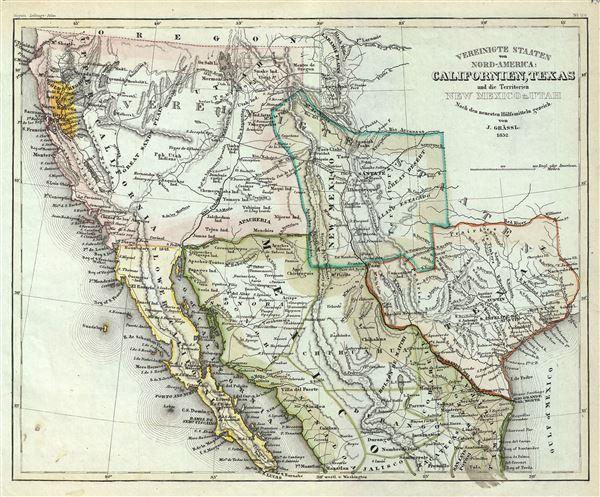 Map Of Texas Mexico.Vereinigte Staaten Von Nord America Californien Texas Und Die