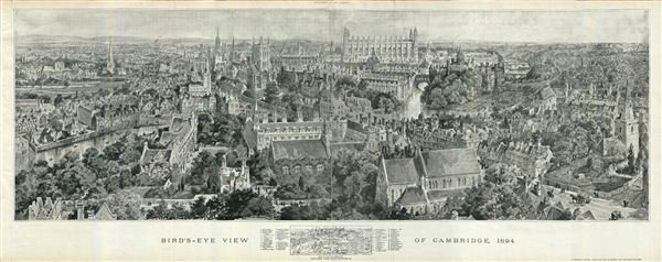Bird's-Eye View of Cambridge, 1894