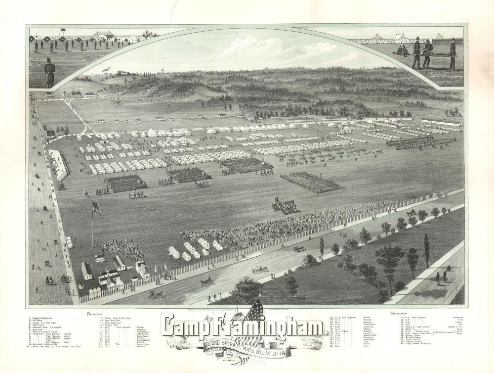 Camp at Framingham. Second Brigade. Mass. Vol. Militia. July 21st to 25th 1885. - Main View