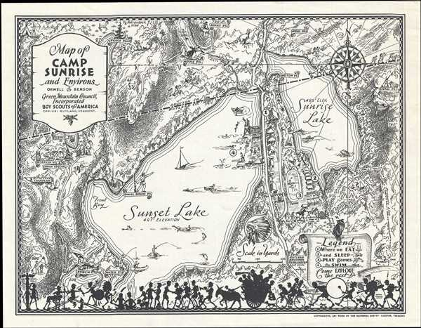 Map of Camp Sunrise and Environs.