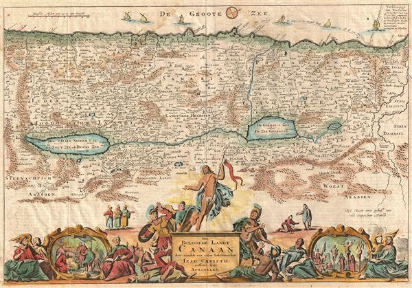 Het Beloofde Landt Canaan door wandelt van onsen Salichmaecker Iesu Christo nessens syne Apostelen.