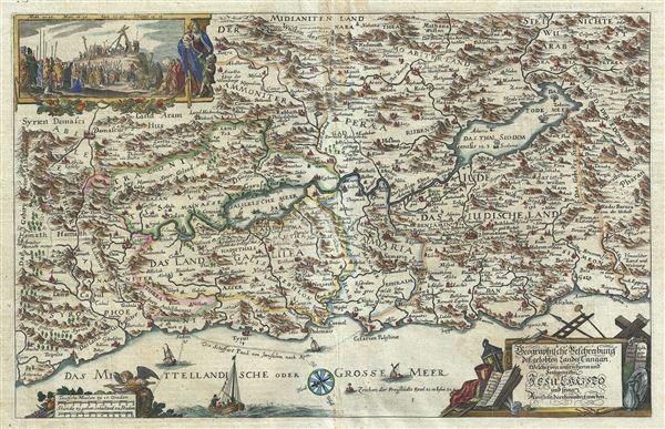 Geographische Beschreibung des Gelobten Landes Canaan, Welches unserem Herrn und Seeligmacher Jesu Christo und seinen Aposteln durchwandert worden.