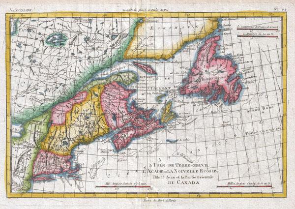 L'Isle De Terre-Neuve, L'Acadie ou La Nouvelle Ecosse - Main View