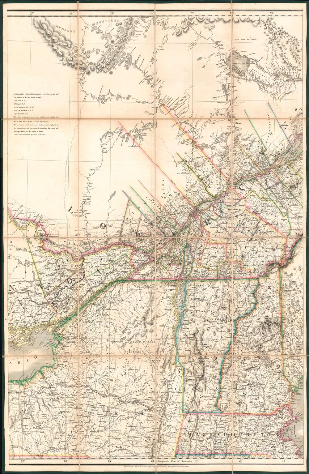 To His Most Excellent Majesty King William IVth This Map of the Provinces of Lower and Upper Canada, Nova Scotia, New Brunswick, Newfoundland and Prince Edwards Island, with a Large Section of the United States... - Alternate View 3