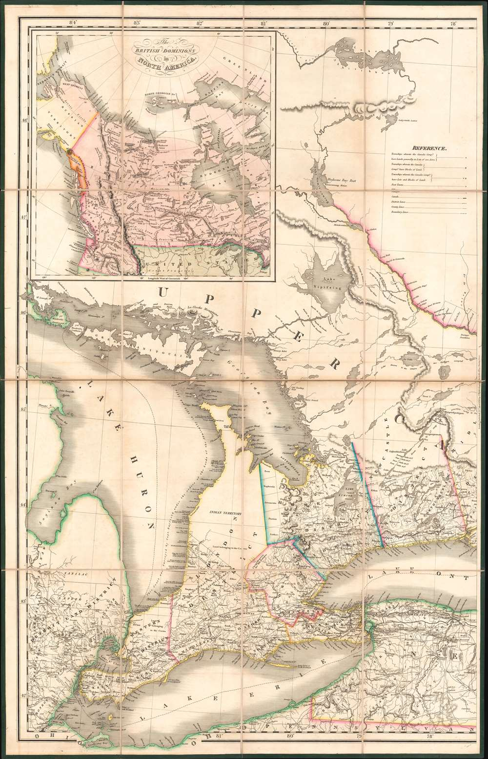 To His Most Excellent Majesty King William IVth This Map of the Provinces of Lower and Upper Canada, Nova Scotia, New Brunswick, Newfoundland and Prince Edwards Island, with a Large Section of the United States... - Alternate View 4