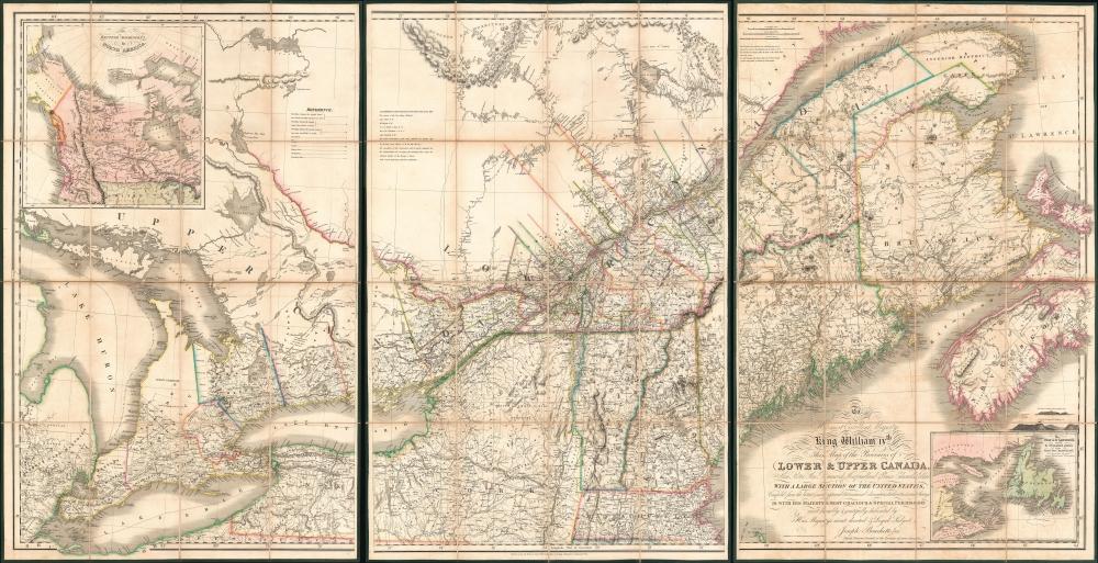 1831 Bouchette / Wyld Map of Canada (Quebec / Ontario)
