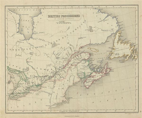 Principal British Possessions in North America. - Main View
