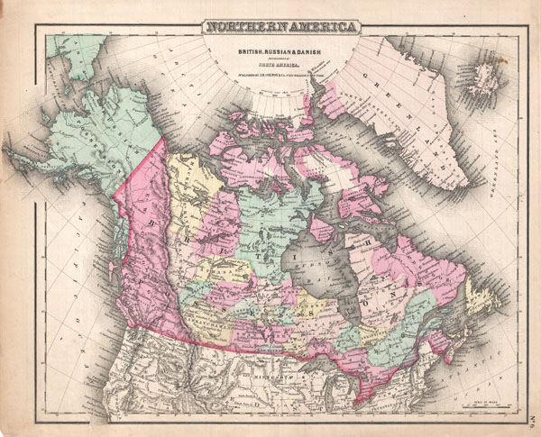 Northern America.  British, Russian, and Danish Possessions in North America. - Main View