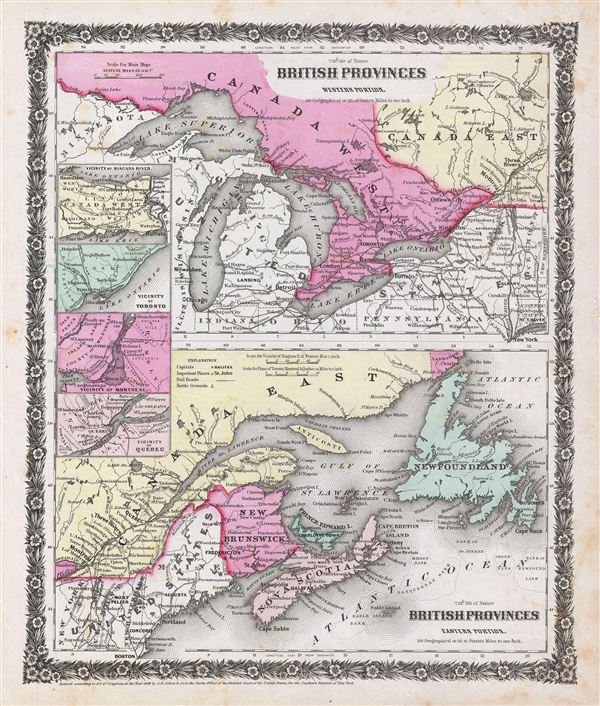 British Provinces Western Portion (Canada). British Provinces Eastern Portion (Canada).