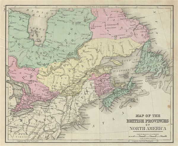 Map of the British Provinces of North America.