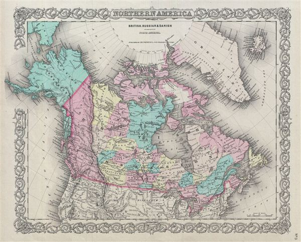 Northern America.  British, Russian & Danish Possessions In North America. - Main View