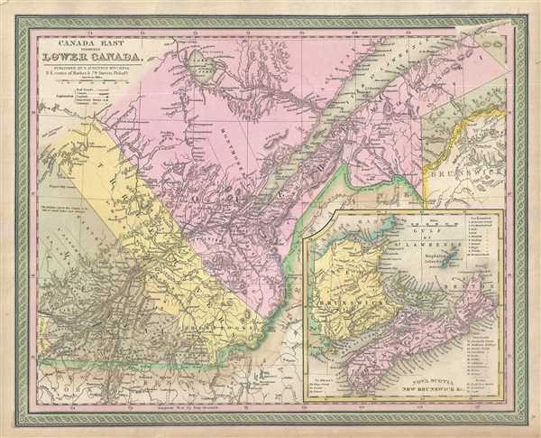 Canada East formerly Lower Canada.