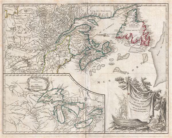 Partie De L'Amerique Septent. Qui Comprend La Nouvelle France ou Le Canada.