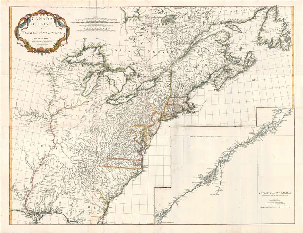 Canada Louisiane et Terres Angloises.