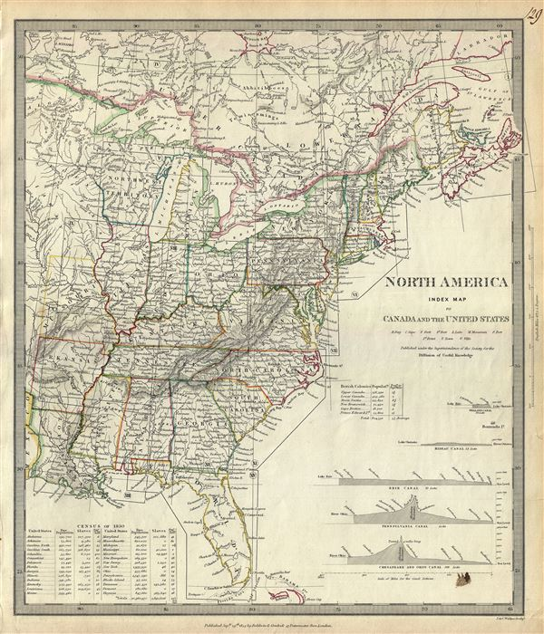North America Index Map to Canada and the United States. - Main View