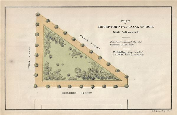 Plan of Improvements of Canal St. Park.