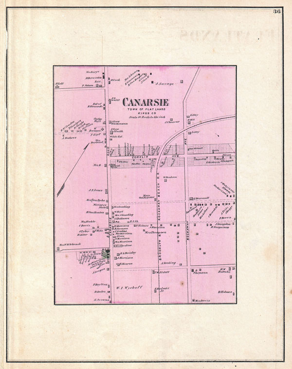 Canarsie, Town of Flat Lands, Kings Co.