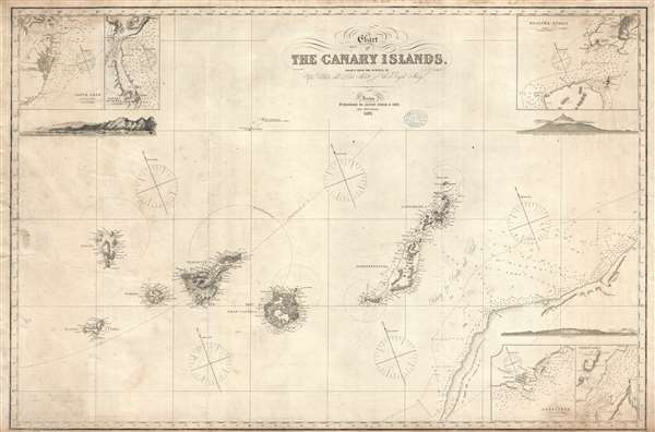 Chart of the Canary Islands, Drawn from the Surveys of Capt. Vidal and Liet. Arlett of the Royal Navy.
