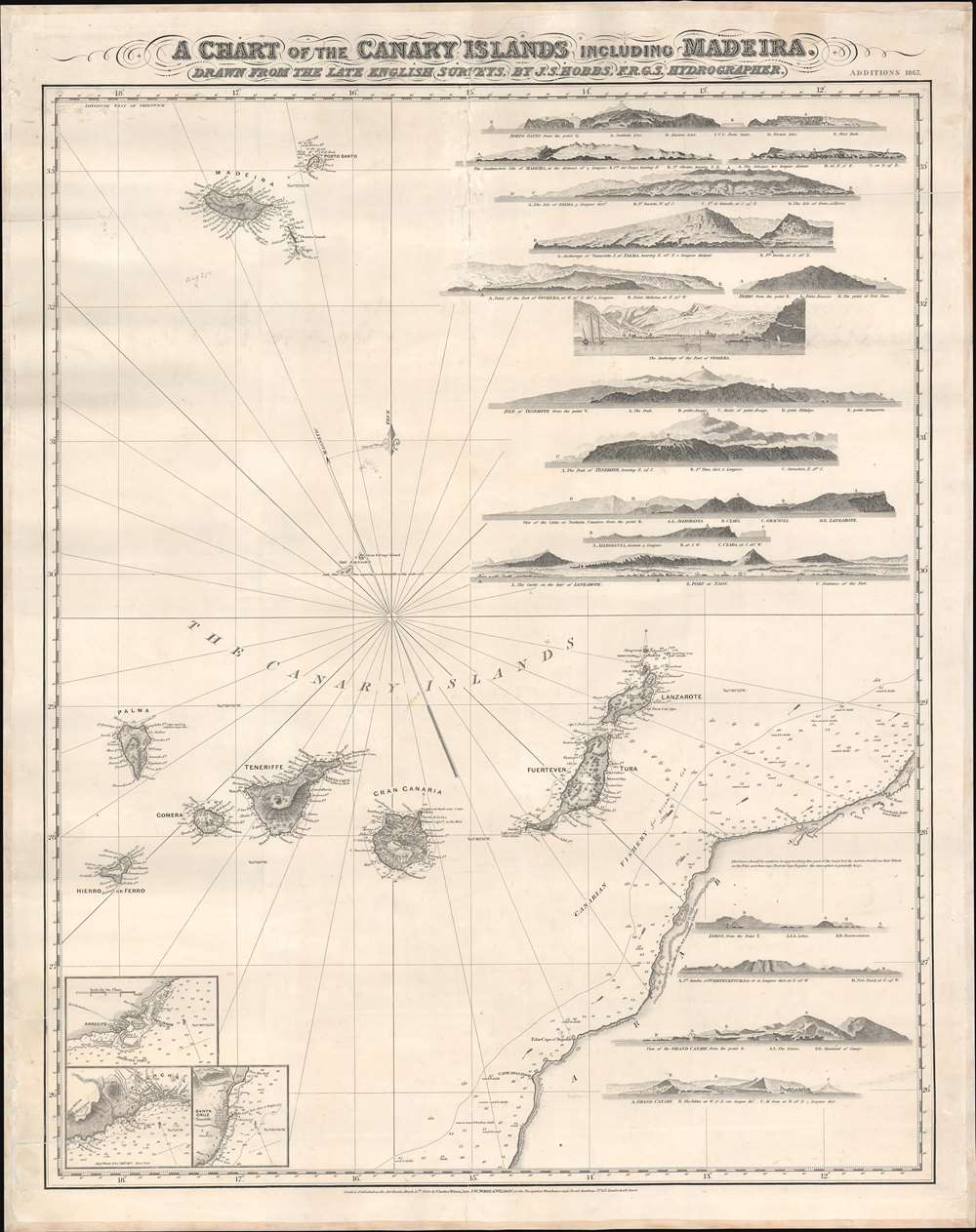 A Chart of the Canary Islands Including Madeira. - Main View
