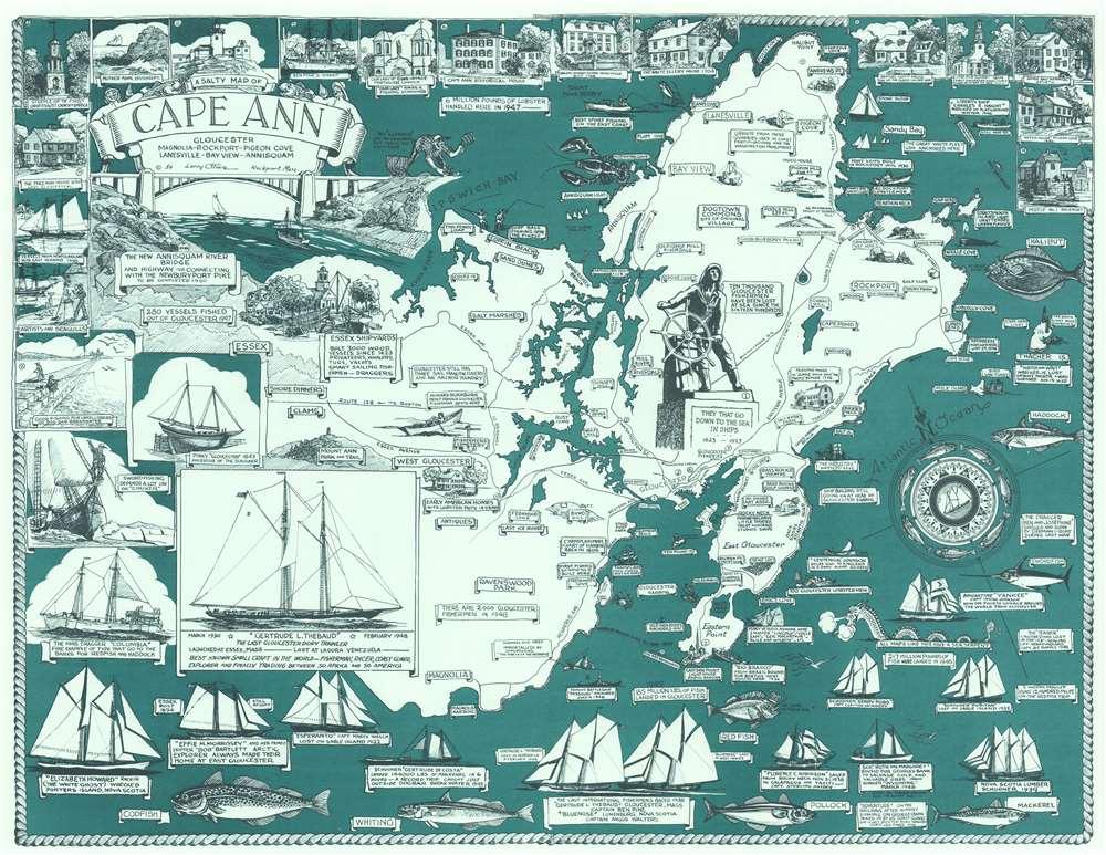 A Salty Map of Cape Ann. - Main View