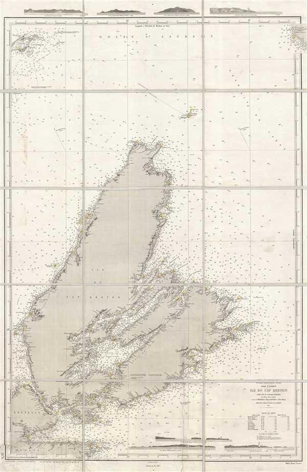 Océan Atlantique Nord. Golfe St. Laurent. Ile du Cap Breton.
