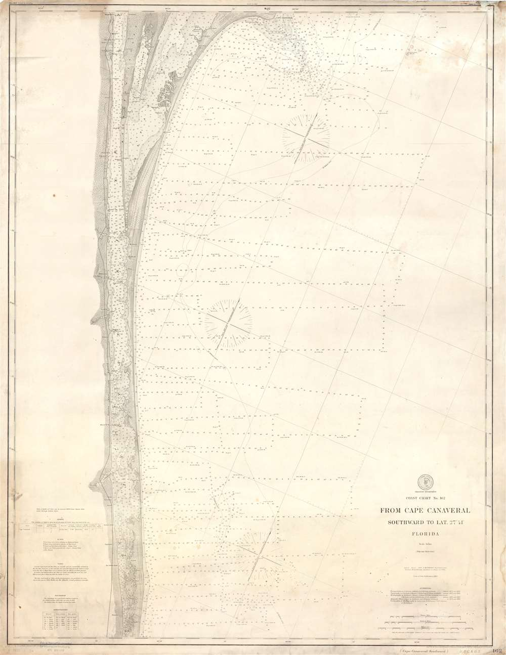 Coast Chart No. 162 From Cape Canaveral Southward to Lat. 27° 41' Florida