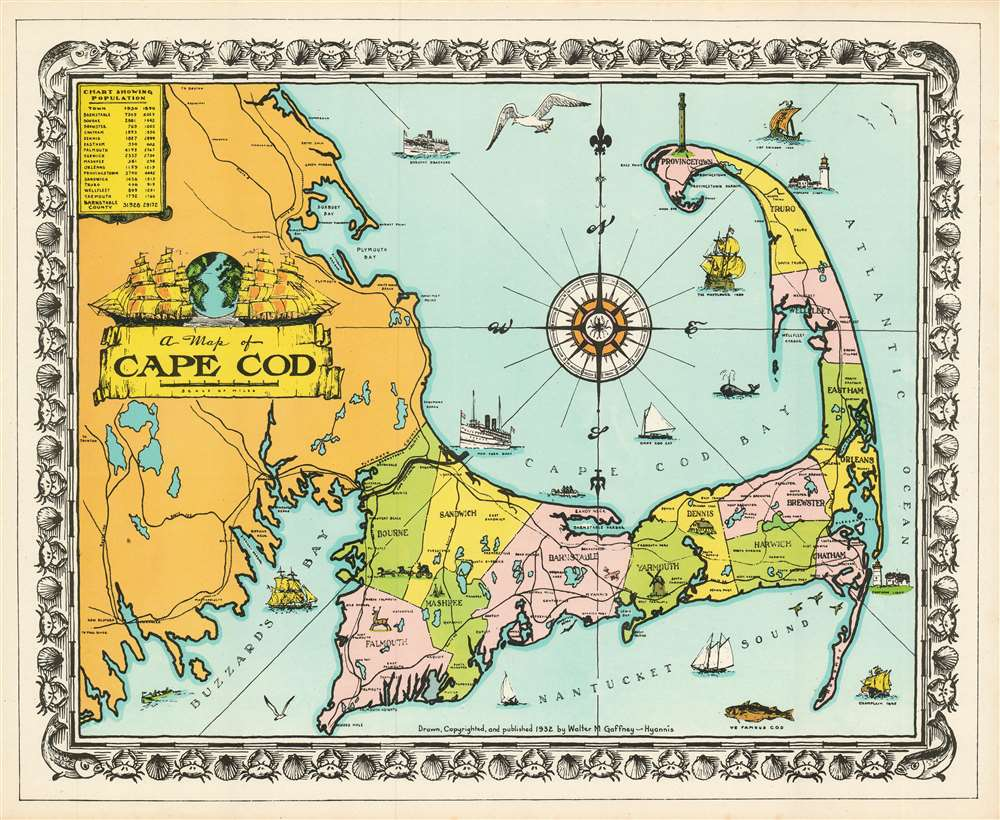 A Map of Cape Cod. - Main View
