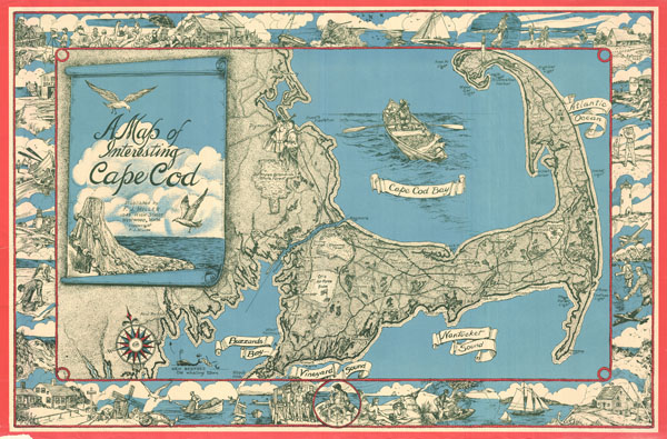 A Map of Interesting Cape Cod.