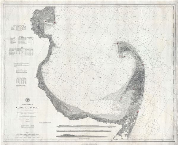 Coast Chart No. 10 Cape Cod Bay. - Main View
