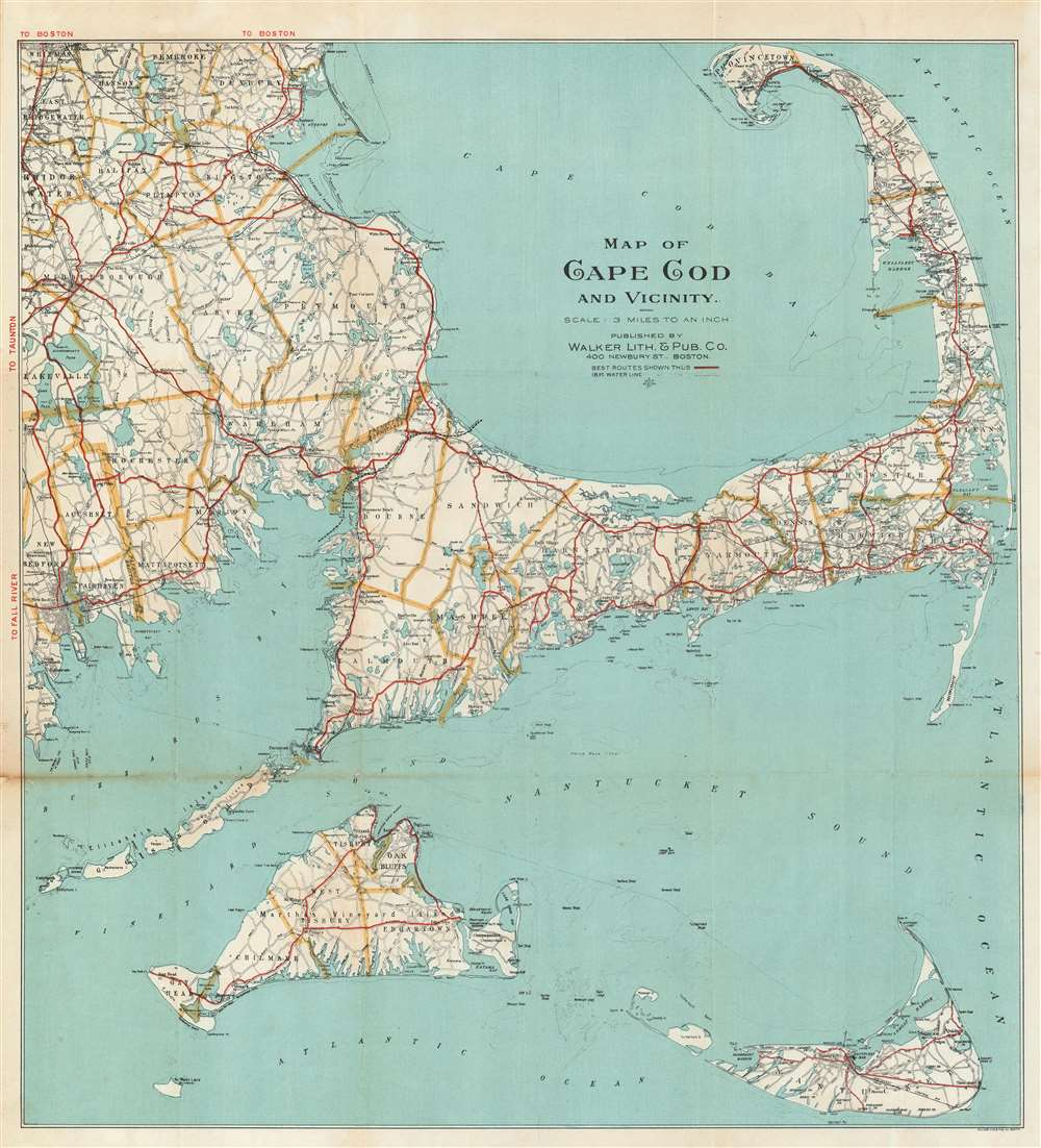 Map of Cape Cod and Vicinity.: Geographicus Rare Antique Maps
