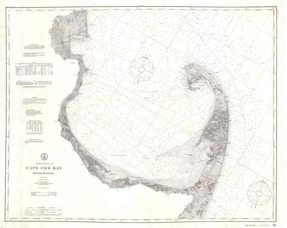 Coast Chart No. 110 Cape Cod Bay Massachusetts. - Main View