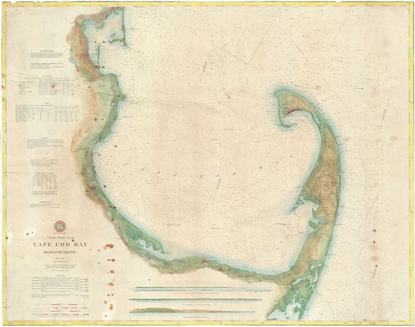 Coast Chart No 110 Cape Cod Bay Massachusetts Geographicus Rare - Cape-cod-on-us-map