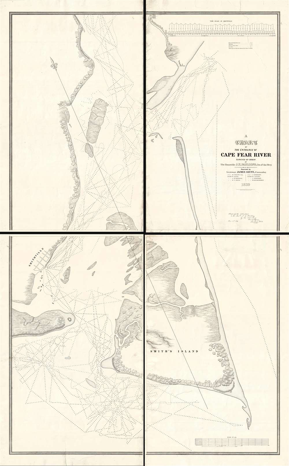 A Chart of the Entrance of Cape Fear River.