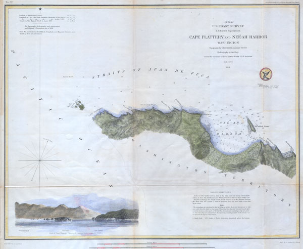 Cape Flattery And Neeah Harbor Washington Geographicus