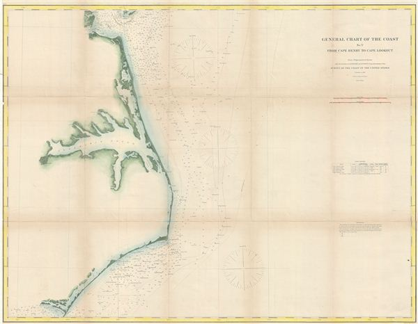 General Chart of the Coast No. V From Cape Henry to Cape Lookout.