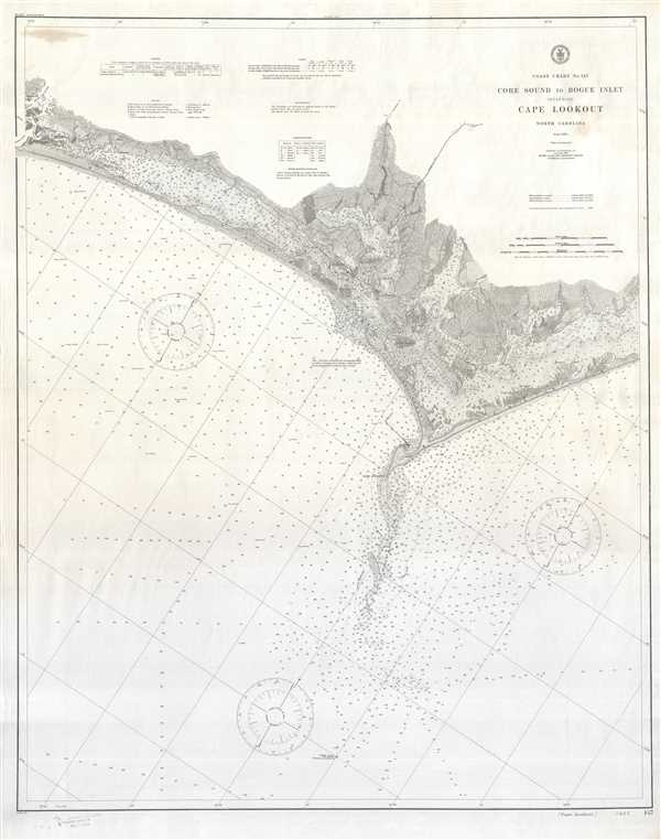 Coast Chart No. 147 Core Sound to Bogue Inlet Including Cape Lookout North Carolina.