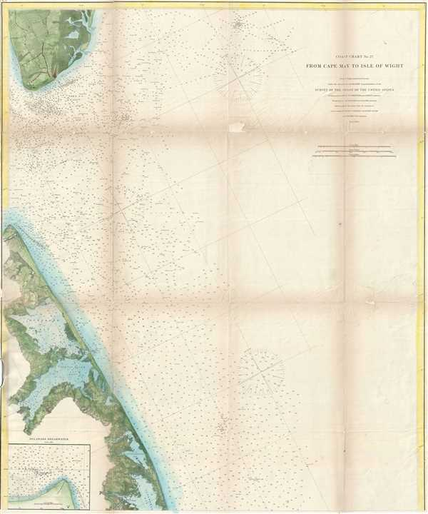Coast Chart No. 27 From Cape May to Isle of Wight. - Main View