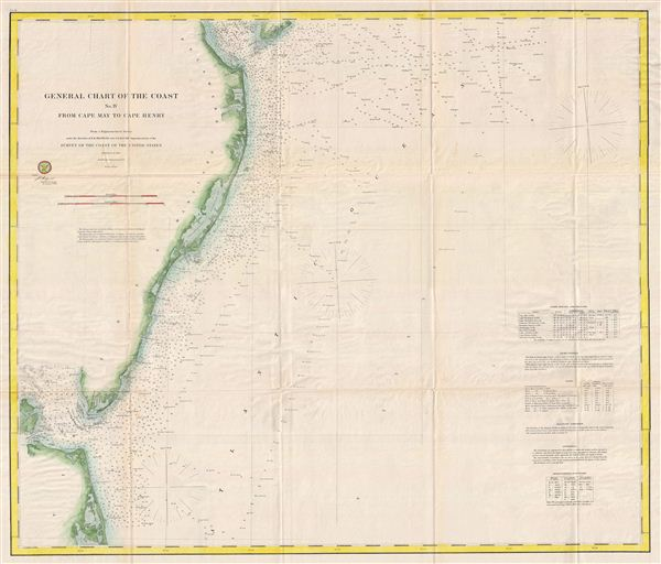 General Chart of the Cost No. IV From Cape May to Cape Henry.