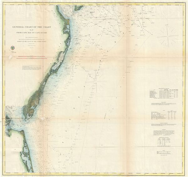 General Chart of the Cost No. IV From Cape May to Cape Henry. - Main View