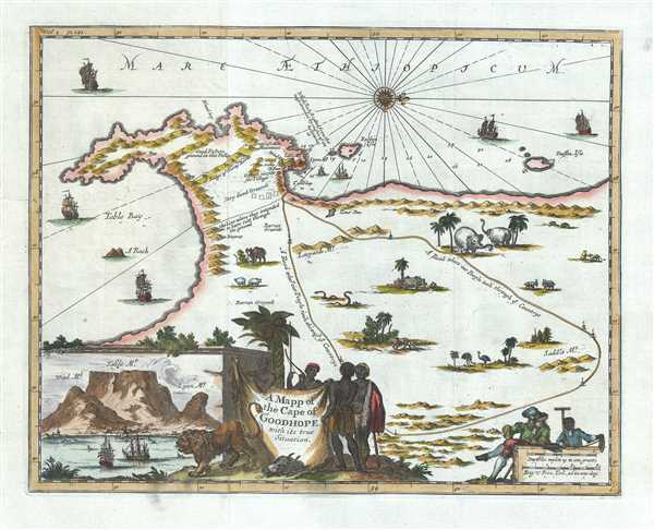 A Mapp of the Cape of Goodhope with its true Situation.
