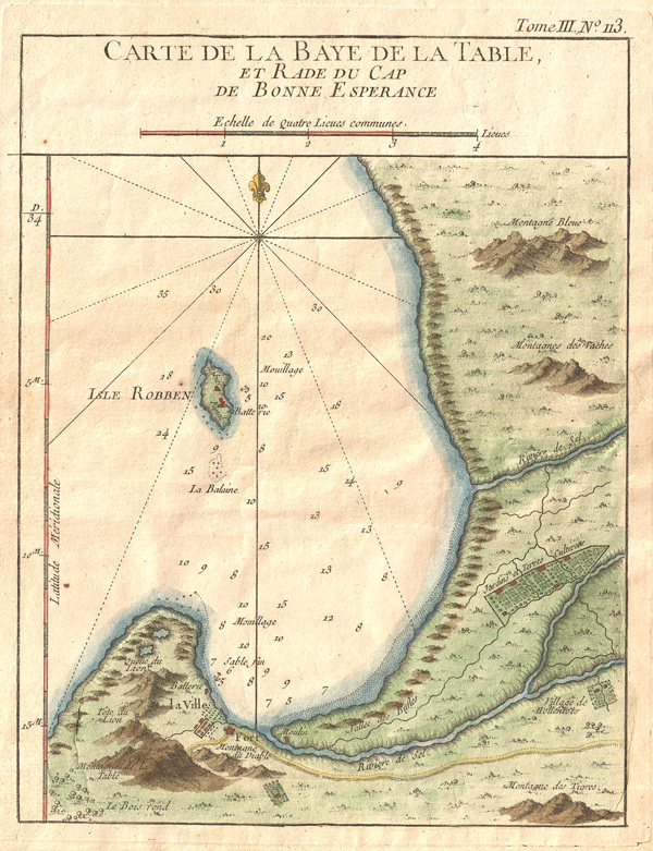 Carte De La Baye De La Table et Rade Du Cap De Bonne Esperance. - Main View