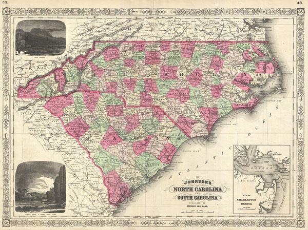 Johnson's North Carolina and South Carolina. - Main View