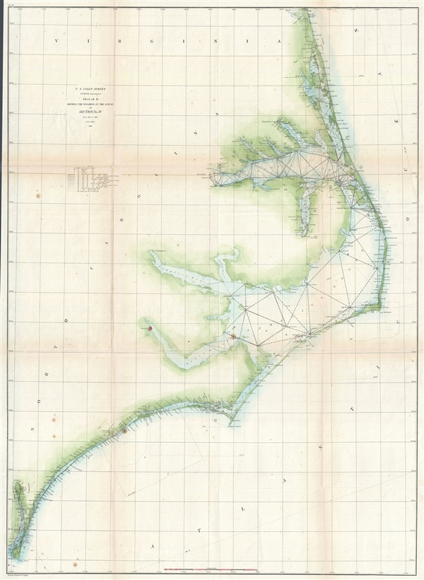 Sketch D Showing the Progress of the Survey in Section No. IV from 1845 to 1860. - Main View