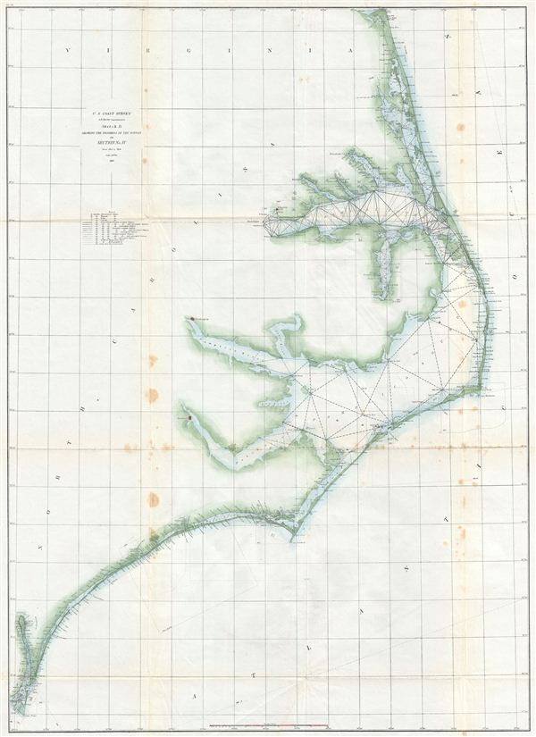 Sketch D Showing the Progress of the Survey in Section No. IV from 1845 to 1859.
