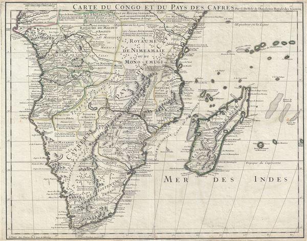 Carte du Congo et du Pays des Cafres.