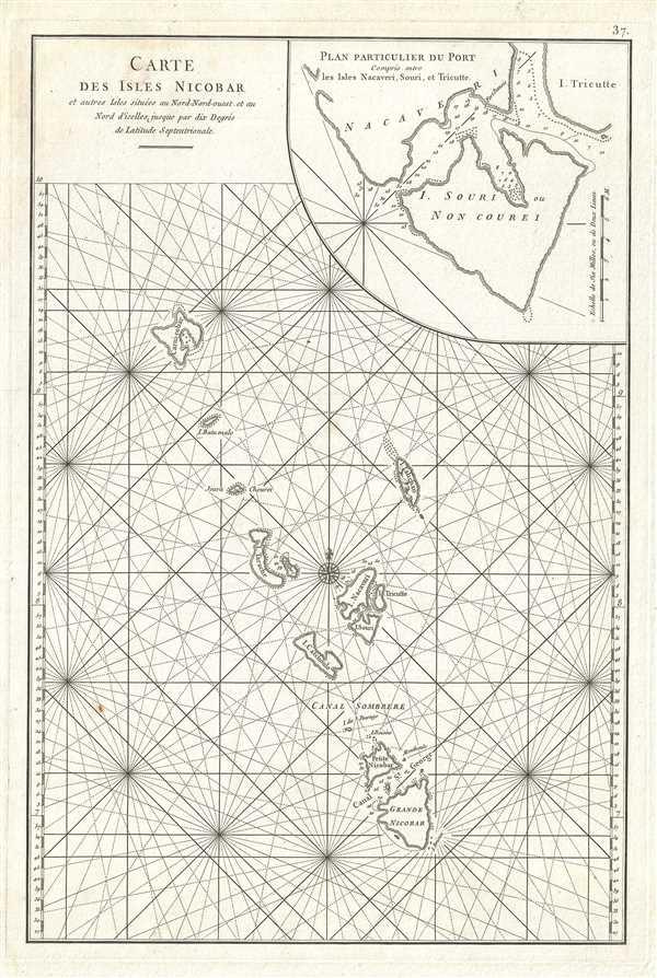 Carte des Isles Nicobar.